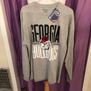 Champion Georgia Bulldogs Gray Long Sleeve Tee